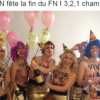 Les Femen perturbent le banquet républicain du 1er-mai de Marine Le Pen.